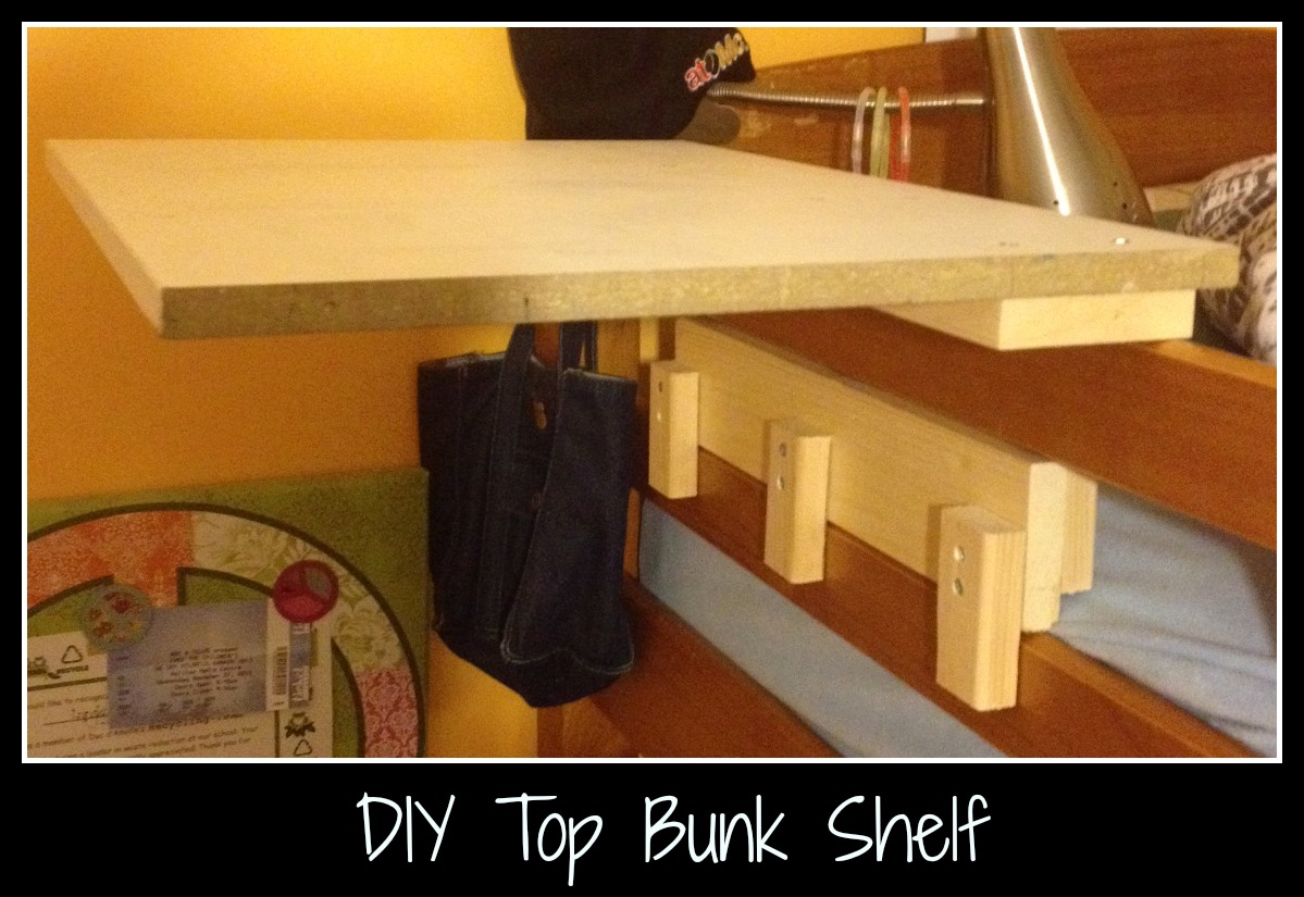 diy for kids and dads moms top bunk shelf mom 39 s release